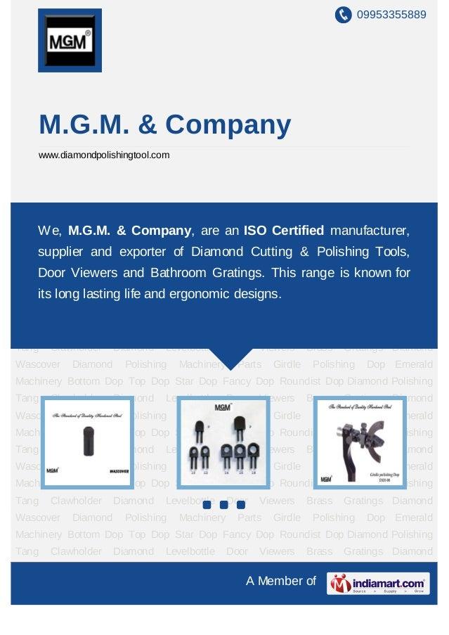 09953355889    M.G.M. & Company    www.diamondpolishingtool.comDiamond Wascover Diamond Polishing Machinery Parts Girdle P...