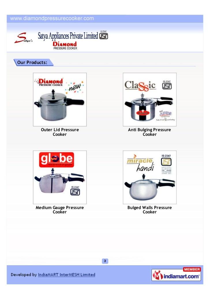 Satya Appliances Private Limited, Ghaziabad, Aluminium Inner Led Type Pressure Cooker Slide 3