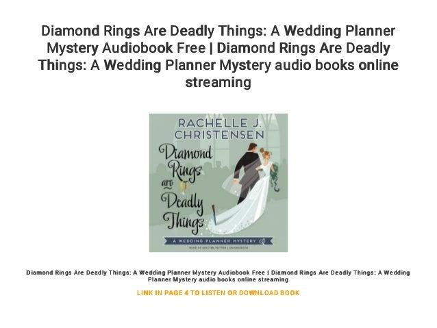Wedding Planner Mystery.Diamond Rings Are Deadly Things A Wedding Planner Mystery Audiobook