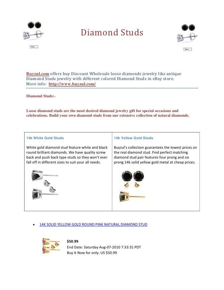 5038725-161925-295275-247650              Diamond Studs<br />Buyzul.com offers buy Discount Wholesale loose diamonds jewel...
