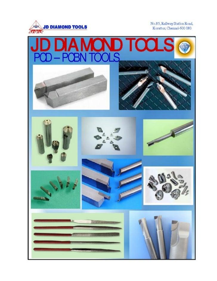 JD Diamond Tools, Chennai, PCD & PCBN Cutting Tools