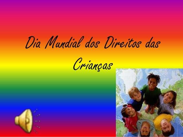 Dia Mundial dos Direitos das Crianças