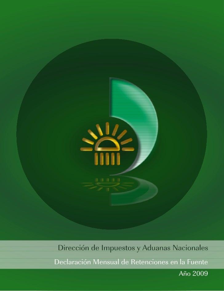 Instrucciones de diligenciamiento Declaración Mensual de Retenciones en la Fuente   1