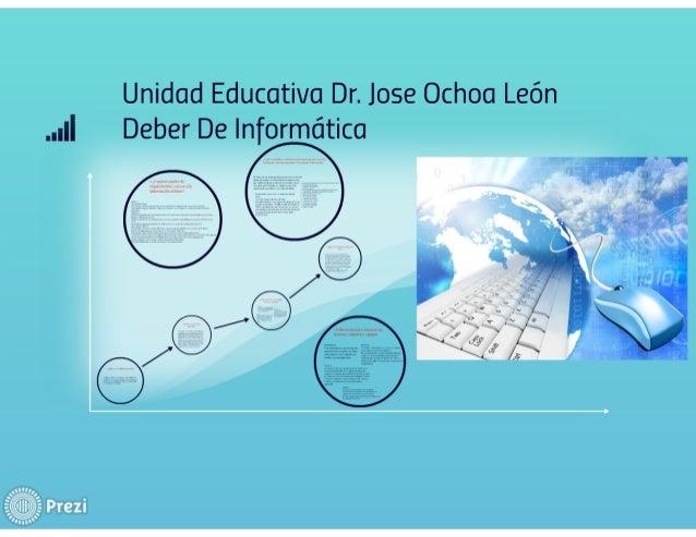 .. ¡|I Deber De Informática  Unidad Educativa Dr.  Jose Ochoa León