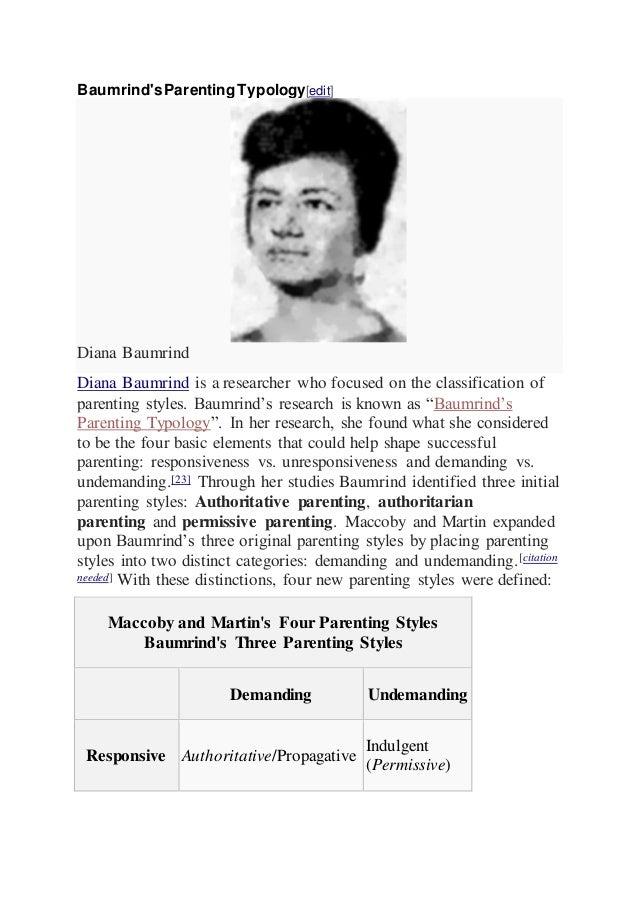 diana baumrind theory