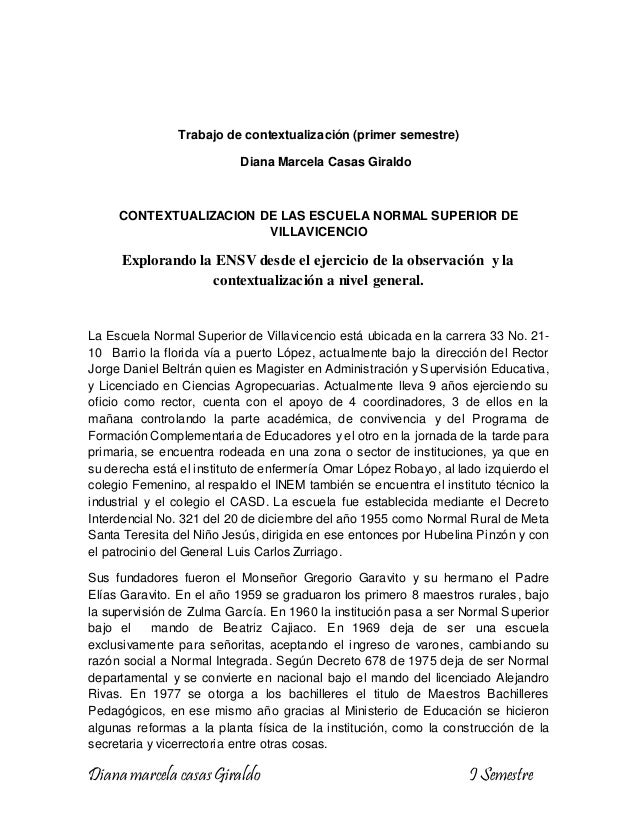 Diana marcela casasGiraldo I Semestre Trabajo de contextualización (primer semestre) Diana Marcela Casas Giraldo CONTEXTUA...