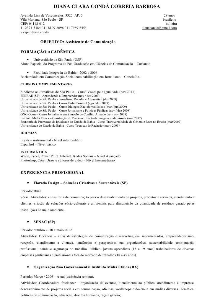 DIANA CLARA CONDÁ CORREIA BARBOSAAvenida Lins de Vasconcelos, 3325, AP. 5                                                 ...