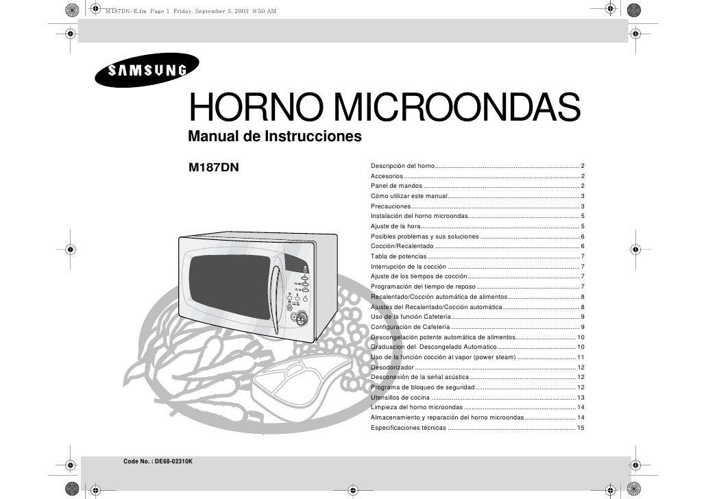 Microondas artrom manual de instrucciones del