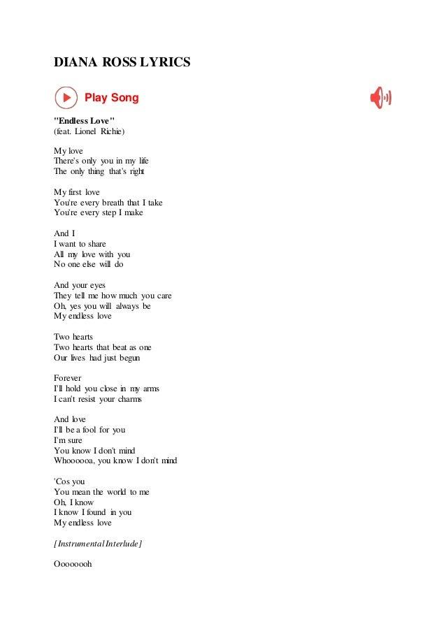 Diana ross lyrics