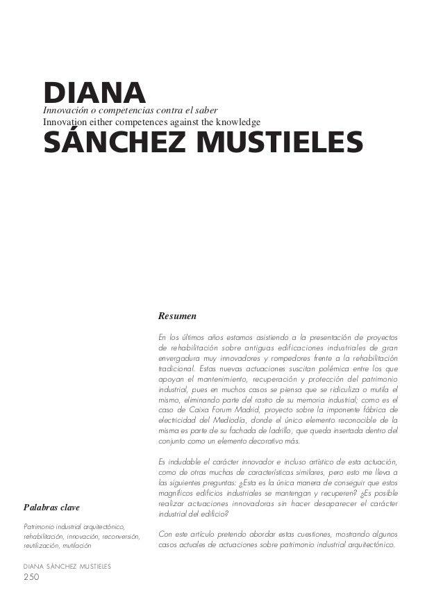 DIANA      Innovación o competencias contra el saber      Innovation either competences against the knowledge      SÁNCHEZ...