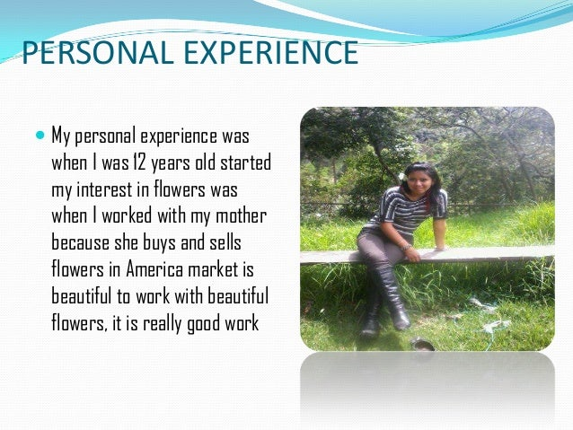 experience personal