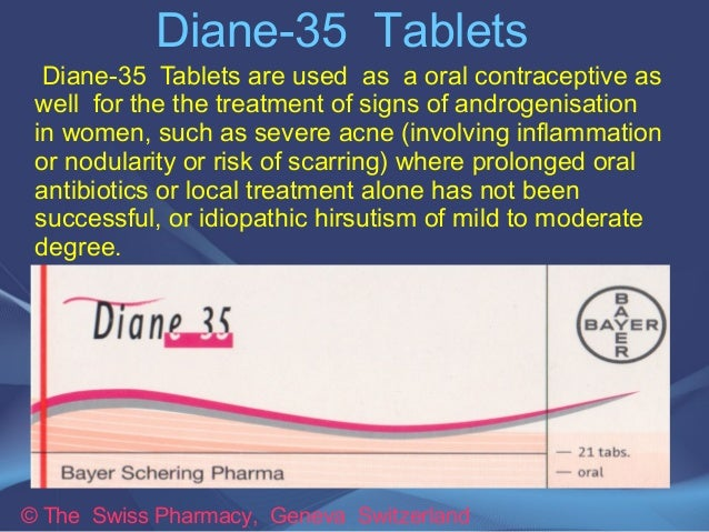 Diane-35 Tablets  Diane-35 Tablets are used as a oral contraceptive as  well for the the treatment of signs of androgenisa...