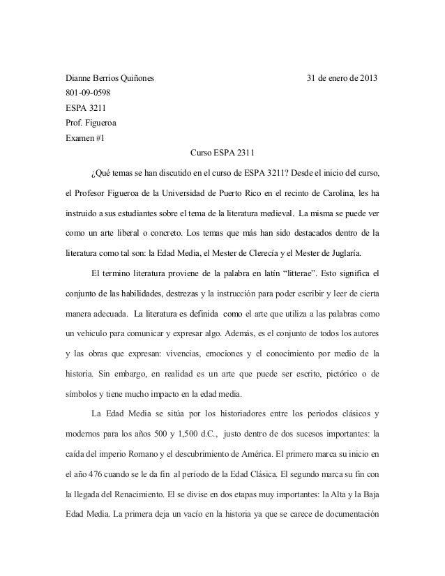 Dianne Berrios Quiñones                                               31 de enero de 2013801-09-0598ESPA 3211Prof. Figuero...