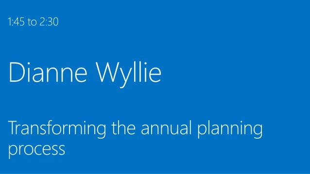 Dianne Wyllie, Brocade: Transforming the Annual Planning Process