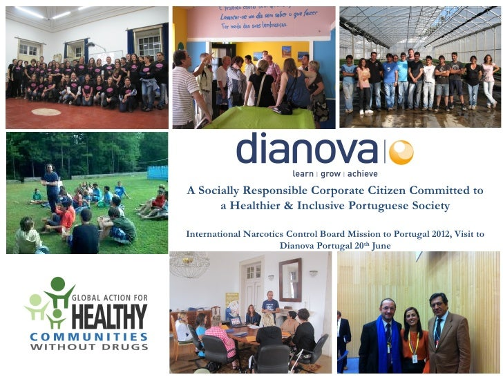A Socially Responsible Corporate Citizen Committed to      a Healthier & Inclusive Portuguese SocietyInternational Narcoti...