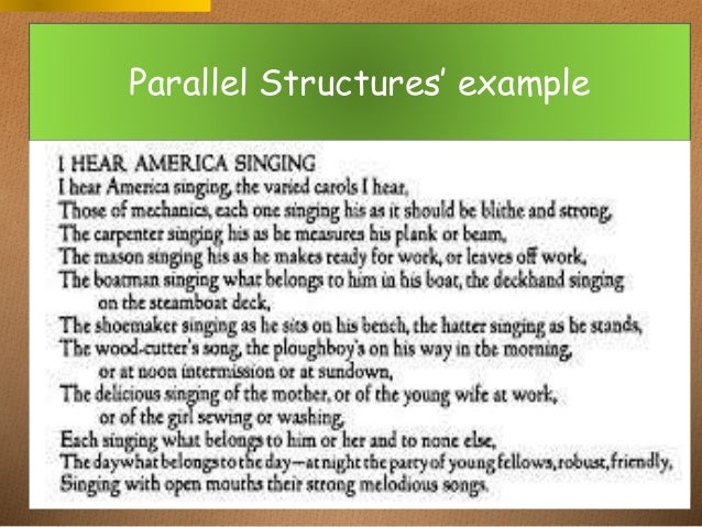 structure examples in literature