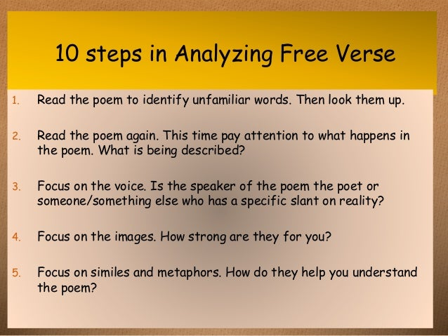 how to analyse a poem step by step