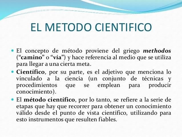 Diapositiva el metodo cientifico for En que consiste el metodo cientifico
