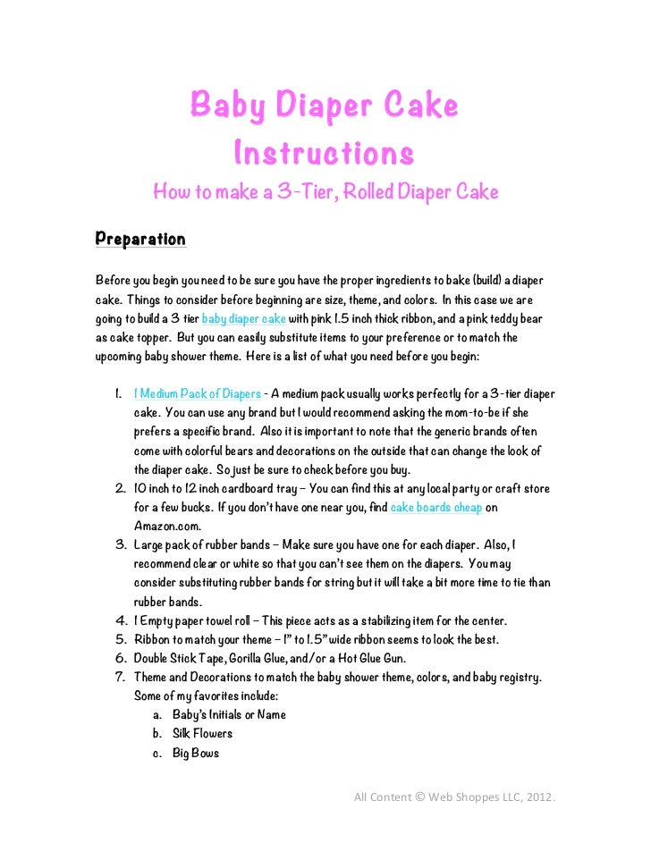 How To Make A  Tier Diaper Cake