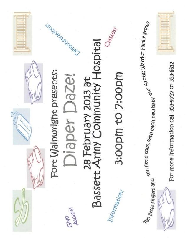 Diaper daze flyers