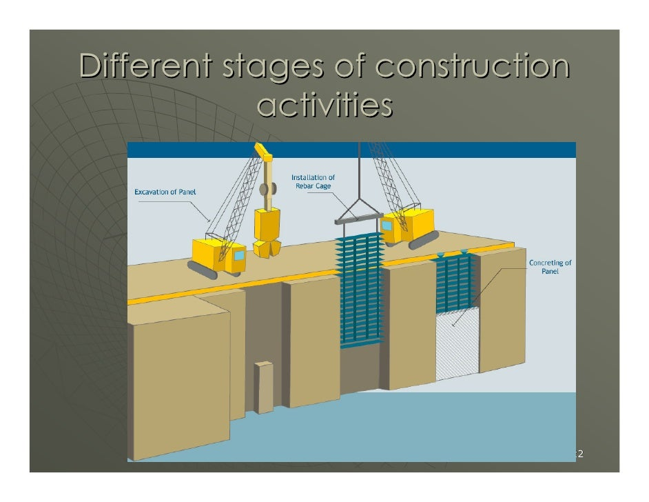 Different stages of construction             activities                                    22