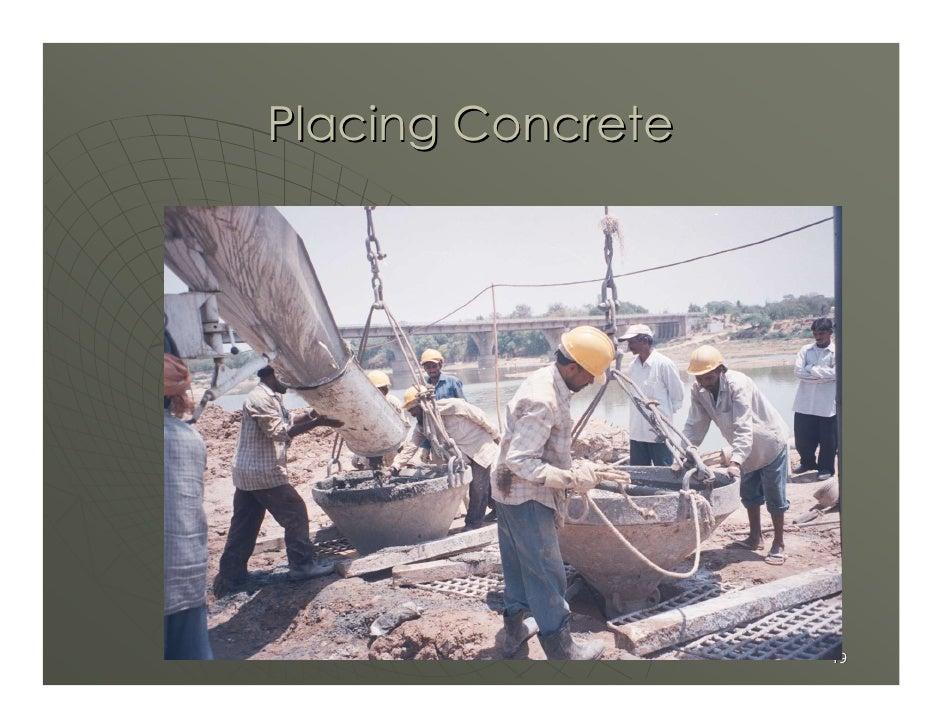 Placing Concrete                        49