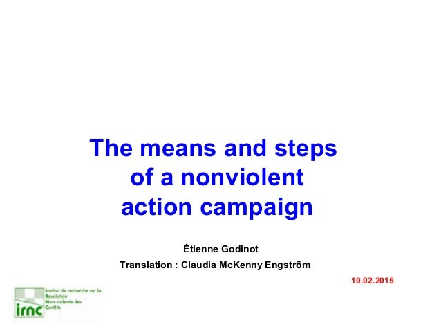 "four steps in a nonviolent campaign mlk Gandhi he does so by explaining his nonviolent campaign and his four basic steps ""we have gone through all of these steps in birminghamracial injustice engulfs this community."
