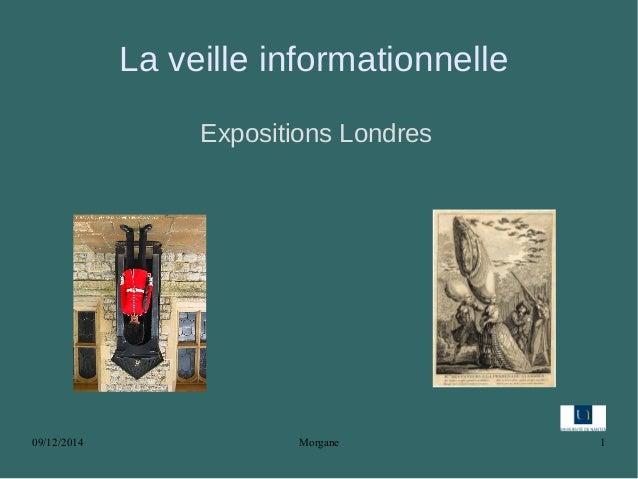09/12/2014 Morgane 1 La veille informationnelle Expositions Londres