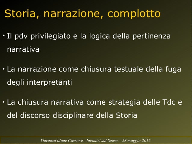 Intervento history as we know it ruolo e significato for Pertinenza significato