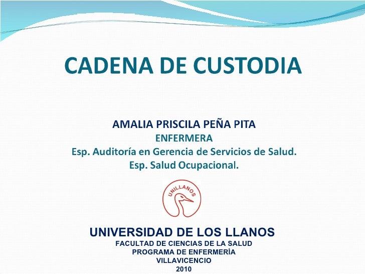 UNIVERSIDAD DE LOS LLANOS  FACULTAD DE CIENCIAS DE LA SALUD PROGRAMA DE ENFERMERÍA VILLAVICENCIO 2010