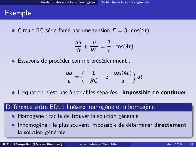 equations diff u00e9rentielles  dut mp  cm3