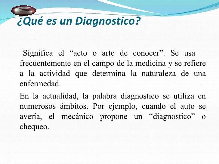 diagnostico del balance general