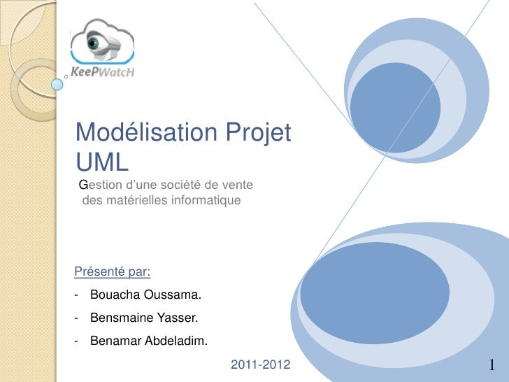 Modélisation ProjetUMLGestion d'une société de ventedes matérielles informatiquePrésenté par:- Bouacha Oussama.- Bensmaine...