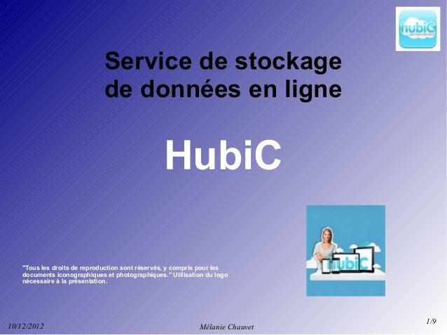 Service de stockage                              de données en ligne                                                 HubiC...