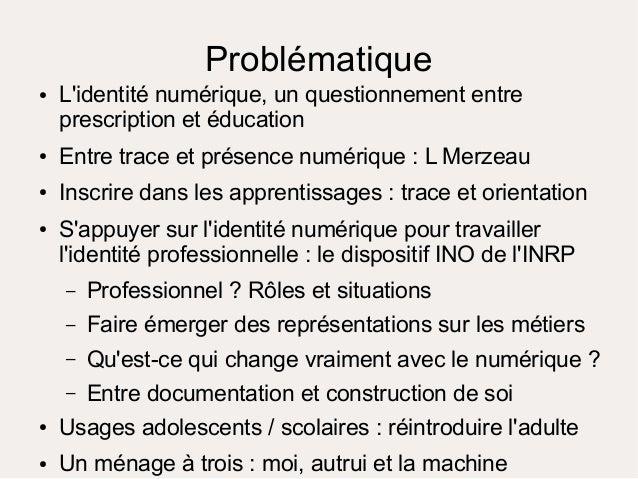 Problématique ● Comment inscrire la notion de trace dans les apprentissage d'un élève en seconde et proposer une activité ...