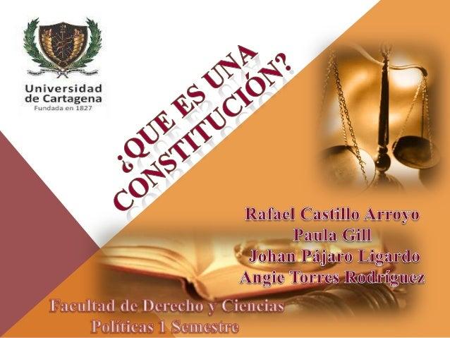 Una constitución, para regir necesita lapromulgación legislativa, es decir, que tieneque ser también ley. Sin embargo, no ...