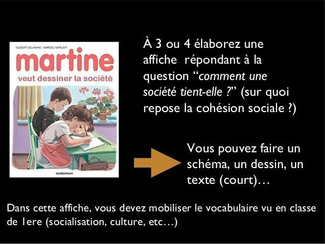 Question sur la cohésion social explication 1ère Autre