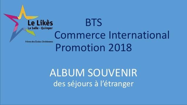 BTS Commerce International Promotion 2018 ALBUM SOUVENIR des séjours à l'étranger