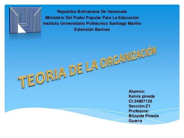 Republica Bolivariana De Venezuela Ministerio Del Poder Popular Para La Educación Instituto Universitario Politécnico Sant...
