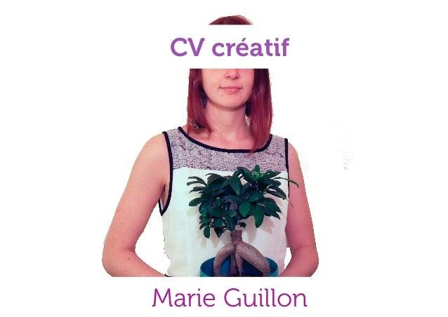 CV créatif Marie Guillon