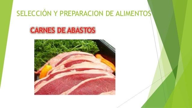 SELECCIÓN Y PREPARACION DE ALIMENTOS CARNES DE ABASTOS
