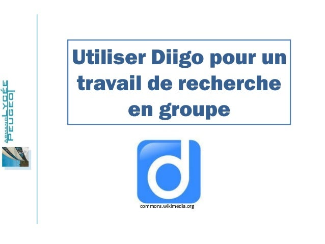 Utiliser Diigo pour un travail de recherche en groupe  commons.wikimedia.org