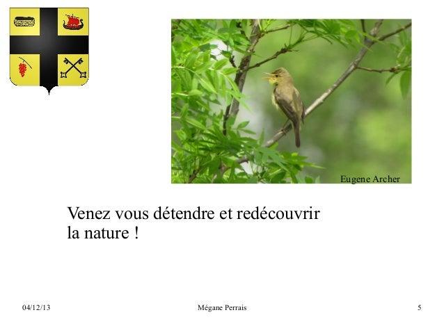Eugene Archer  Venez vous détendre et redécouvrir la nature !  04/12/13  Mégane Perrais  5
