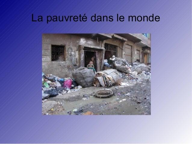 La pauvreté dans le monde
