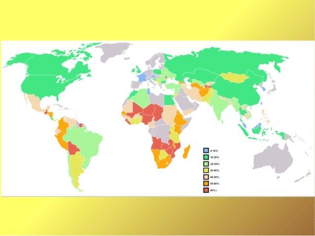 On a choisi cette carte car elle montre la différence de richesse dans le monde . La France a moins de 10% de la populatio...