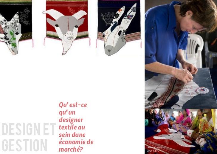 Qu'est-ce            qu'un            designerdesign et   textile au            sein dunegestion            économie de   ...