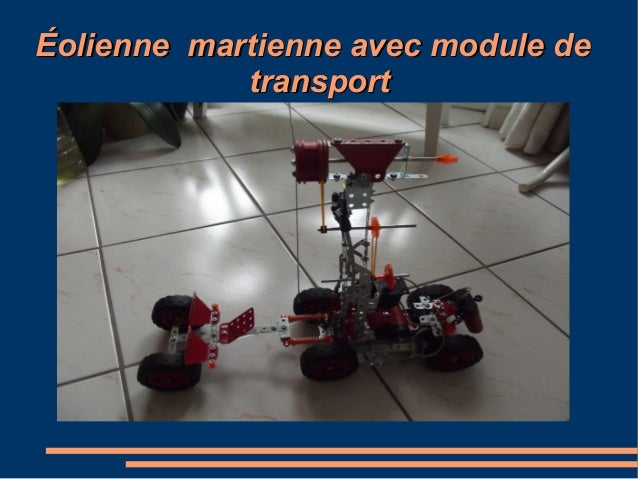 Éolienne martienne avec module de transport