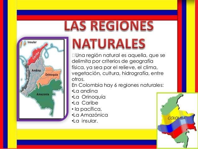 Una región natural es aquella, que se delimita por criterios de geografía física, ya sea por el relieve, el clima, vegeta...