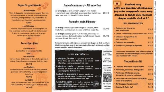Menus Chez François