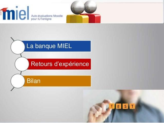MIEL, une banque de quiz au service de la transition secondaire Slide 2